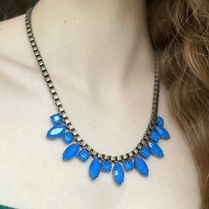 Loren Hope Blue Faceted Crystal Necklace